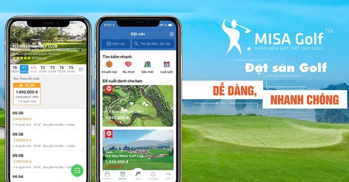 Tính năng đặt sân golf online